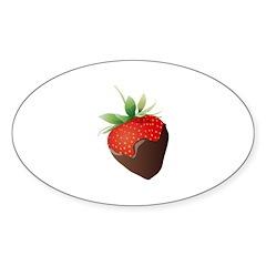 Chocolate Lovers Sticker (Oval)