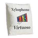 Xylophone Virtuoso Burlap Throw Pillow
