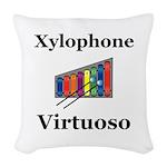 Xylophone Virtuoso Woven Throw Pillow