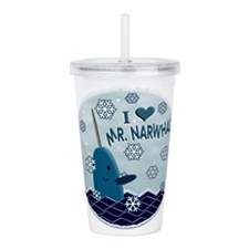 I LOVE MR. NARWHAL Acrylic Double-wall Tumbler