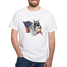 Schnauzer Flag Shirt