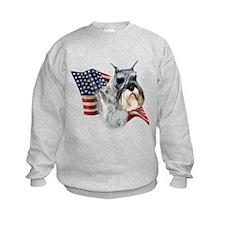 Schnauzer Flag Sweatshirt