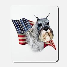 Schnauzer Flag Mousepad