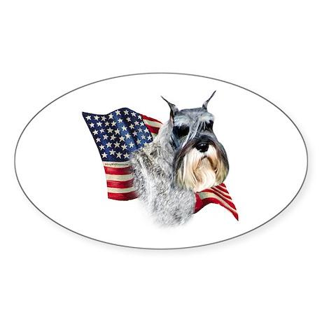 Schnauzer Flag Oval Sticker