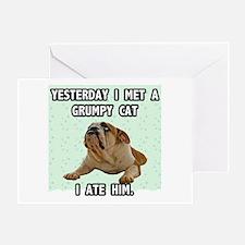 Grumpy Dog Sez Greeting Card