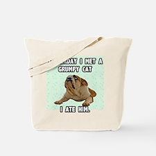 Grumpy Dog Sez Tote Bag