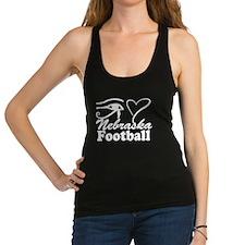 Eye Love Nebraska Football Racerback Tank Top
