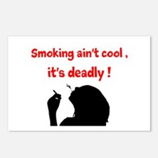 SMOKING AINT COOL Postcards (Package of 8)