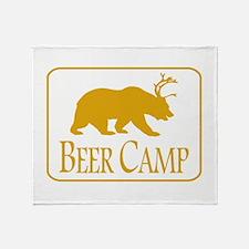 Beer Camp Throw Blanket