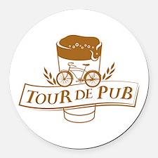 Tour de Pub Round Car Magnet