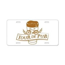 Tour de Pub Aluminum License Plate