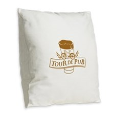 Tour de Pub Burlap Throw Pillow