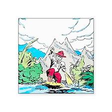 """Unique Canoe Square Sticker 3"""" x 3"""""""