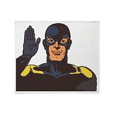 superhero hello Throw Blanket