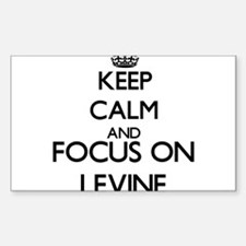 Keep calm and Focus on Levine Decal