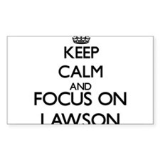 Keep calm and Focus on Lawson Decal