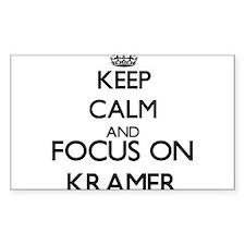 Keep calm and Focus on Kramer Decal