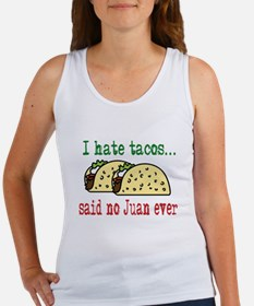 I Hate Tacos Women's Tank Top
