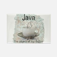 """""""Java-Object of my desire"""" Rectangle Magnet"""