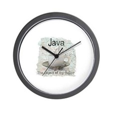 """Java-Object of my desire"" Wall Clock"