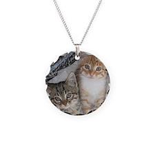 Tabby Kitty Cats Necklace