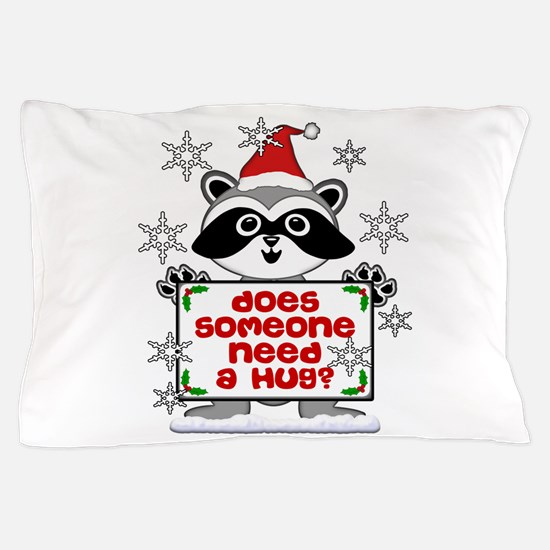 NEED A HUG RACCOON best.png Pillow Case