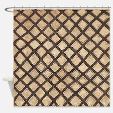 Kuba Print Inspired Shower Curtain
