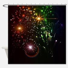 Beautiful firework Shower Curtain