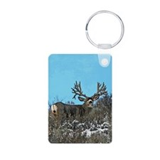 Trophy mule deer buck b Aluminum Photo Keychain