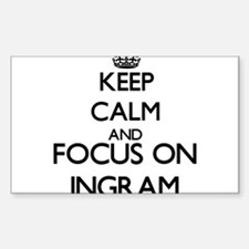 Keep calm and Focus on Ingram Decal
