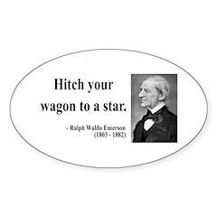 Ralph Waldo Emerson 1 Oval Decal