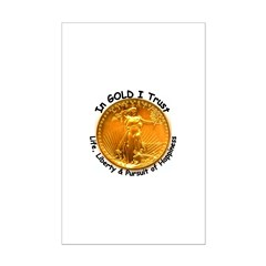 Gold Liberty Black Motto Posters