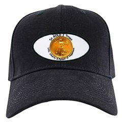 Gold Liberty Black Motto Baseball Hat