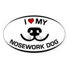 Cute Canine nosework Decal