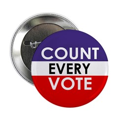 Count Every Vote (Metal Pinback Button)