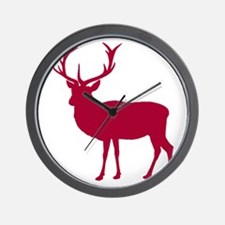 Red Deer Stag Party Wall Clock