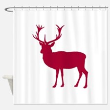 Red Deer Stag Party Shower Curtain