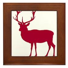 Red Deer Stag Party Framed Tile
