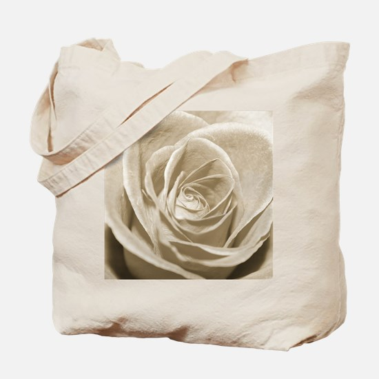 Sepia Rose Tote Bag