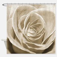 Sepia Rose Shower Curtain