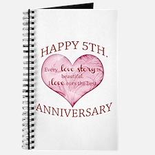 5th. Anniversary Journal