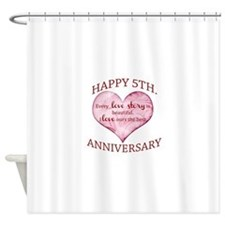 5th. Anniversary Shower Curtain