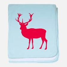 Red Deer Stag Party baby blanket