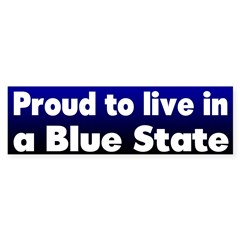 Ohio Proud Blue State Bumper Bumper Sticker