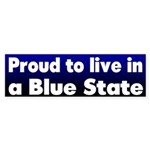 Ohio Proud Blue State Bumper Sticker