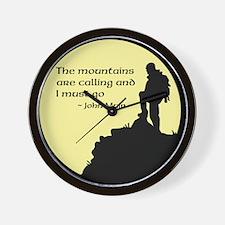 Mountains Calling Wall Clock