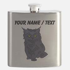 Custom Black Cat Flask