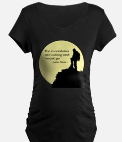 Mountains Calling Maternity T-Shirt