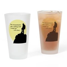 Mountains Calling Drinking Glass