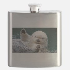 a white otter Flask